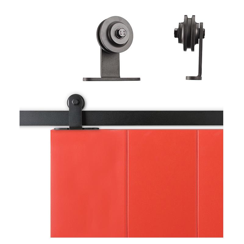 Barn Door Style Side Mount Sliding Hardware: Sliding Cabinet/Barn Door Hardware Kit 6.6 Feet Steel